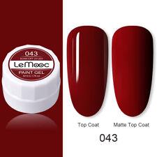 LEMOOC Red Nail Art Gel Polish Glitter Soak off Varnish Top Base Coat UV Lamp