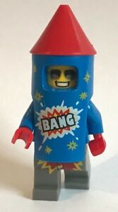 1 x original LEGO MINIFIGURE FIREWORK GUY - 40 YEARS ANNIVERSARY SERIES 18