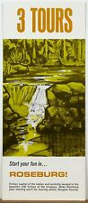 1960's Roseburg Oregon 100 Valleys of the Umpqua vintage travel brochure & map b