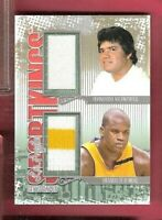 SHAQUILLE O'NEAL SHAQ & FERNANDO VALENZUELA  2 GAME USED JERSEY CARD SPORTKINGS