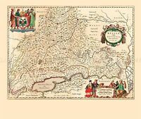 MAP ANTIQUE 1645 BLAEU SOUTH MUSCOVY RUSSIA LARGE REPLICA POSTER PRINT PAM0033
