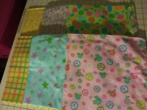 40x22 Toddler Daycare Flannel cot sheets assorted Print (6 sheets)