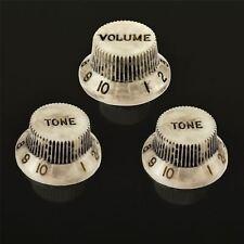 Northwest Guitars Volume & Tone Knobs to fit Fender Stratocaster - Relic White