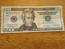 Birthday 2013 $20 Dollar Bill MF 8/10/19933 J- August 10th or October 8th 1993