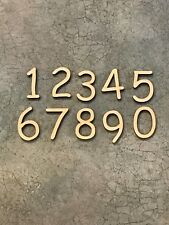 """Set of 10 Laser Cut Wooden Numbers, Comic Font, Numbers 0-9, 1"""" Size"""
