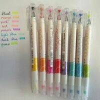 Useful Office Highlighter School Gel Pen Colorful Note 8 Colors Double-headed