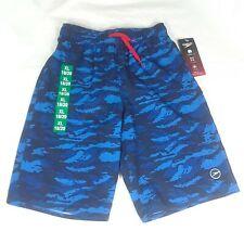 Speedo Boy Tech Volley Swim Shorts Trunks Comfort Liner Camo Blue XL 18-20*^
