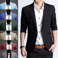 New Men's Casual Slim Fit One Button Suit Blazer Coat Jacket Top M/L/XL/XXL/XXXL