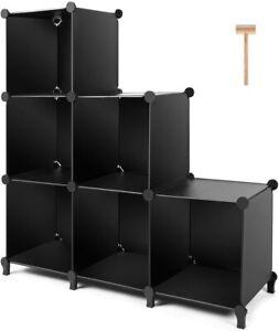 Cube Storage 6 Cube Closet Organizer Storage Shelves Cubes Organizer DIY Plastic
