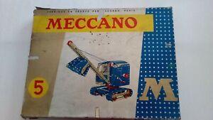 boite principale meccano 5 série M 1970 avec manuel/notice boites 4/5/6