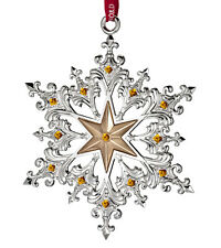 Waterford Silver Snowflake Ornament 40001145 Removable 2014 Year Hang tag New
