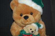 "Christmas Santa Bear Green Gift Bag 11"" Plush Walmart Stuffed Animal Lovey Toy"