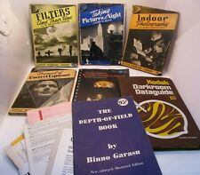 Photography Book Lot Filters Exposure Pictures at Night Kodak Depth of Field Etc