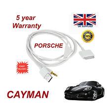 PORSCHE CAYMAN CDR-31 Audio System iPhone 3GS 4 4S iPod USB & Aux Cable white