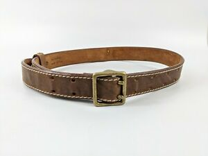 Timberland Rugged Brown Leather Belt 25-30 Inches