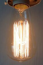 Vintage Look Edison Filament Light Bulb 120V 60W Standard E26 for Antique Lamps