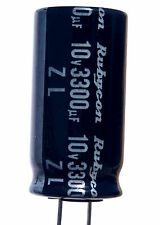 50 pcs Rubycon ZL 3300uf 10v Radial Electrolytic Capacitor 105C  Low impedance