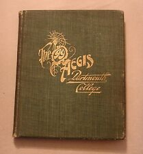 1899 DARTMOUTH COLLEGE ANNUAL YEARBOOK AEGIS (for 1897 -1898 school year)