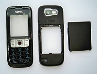 black full housing cover fascia facia faceplate case for Nokia 2630 black