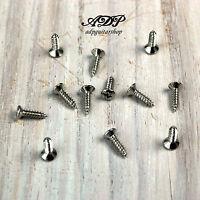12 VIS PICKGUARD format FENDER 3,1 x 11,6 mm  screws Tele Strat Bass NICKEL