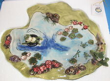 Croakers Pond Base - Cute Frogs Blue Sky Clayworks Heather Goldminc Nib 2004