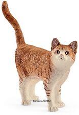 """SCHLEICH®  FARM WORLD  13836   """" Katze """", NEU mit Schleich®-Fähnchen"""