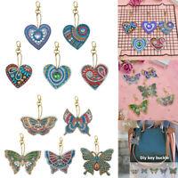 5pcs DIY Full Drill Diamond Painting Special Shaped Love Heart  Keychain Pendant