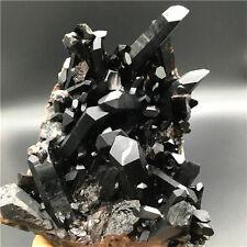 1900g  Beautiful black specimens of a quartz crystal cluster to heal   K3