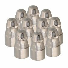 P-80 Plasma Cutting Torch Nozzle Tip Electrode Shield Cup Silver Pack of 10