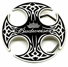 BUDWEISER Fibbia della Cintura Nera Celtic Scudo & Crown Autentico Licenza Ufficiale