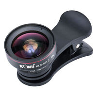 Wide Angle and Macro Lens for Smartphone iPhone Samsung LG KLS-SPL2BK