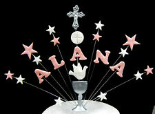 Christening, communion  cake topper / decoration with chalice, cross and dove
