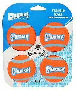 Chuckit Tennis Ball 4 Pack Medium 6.5cm - 39540