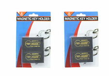 Set of 4 Hide A Key Magnetic Storage Holder Under Car Spare Key Case Large Black