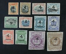 Ckstamps:Gb North Borneo Stamps Collection Scott#91-102 Mint H Og #93 94 98 Thin