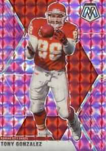 Tony Gonzalez 2020 Mosaic Pink Camo Prizm #2 Kansas City Chiefs