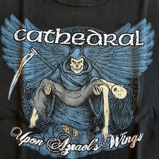 """CATHEDRAL """" Upon Azrael's Wings """" Heavy Metal Tee Shirt , black , girly S/M"""