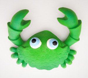 Natural rubber Bath time toy fully moulded CRAB GREEN, 12 months+