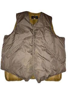 Vintage 60s Eddie Bauer Down Goose Vest Jacket Brown Mens Size 44 Quilted