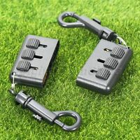 1Pc 3-in-1 Golf Club Brush Groove Putter Wedge Ball Shoe Cleaner Tool + Keychain