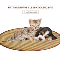 Stripe Breathable Mat Hot Summer Cooling Pad Bed for Dogs Cats Round OK