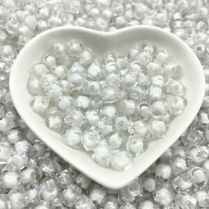 100pcs Love Heart Plastic Beads 8x8x5mm Hearts Shapes Spacer Bead Jewelry Making