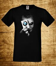BMW JOKER 1 MEN T-SHIRT MPOWER LOGO FUN TEE BLACK SHORT/LONG SLEEVES