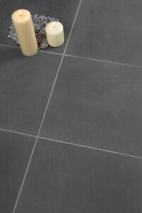 Sample of Java Honed Black Basalt Stone Floor Tiles Flooring