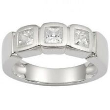 Fossil Jewellery Ring Jf13299 Size 16 Silver/Zirconia White Fossil Box