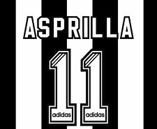 No 11 Asprilla 1995-1997 Newcastle United Home Football Nameset for shirt