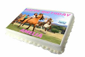 Spirit Riding Free A4 Edible Birthday Cake Topper - Real Icing Sheet