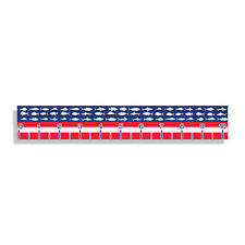 USA Fish Ruler Sticker Measuring Tape Measure Fishing Decal Boat Boating RWB US