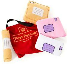 Post person role play soft toy set bag letters parcel kid child postman postie