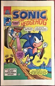 SONIC THE HEDGEHOG COMIC BOOK SPECIAL # ¼  RARE  Bagged & Boarded MINT